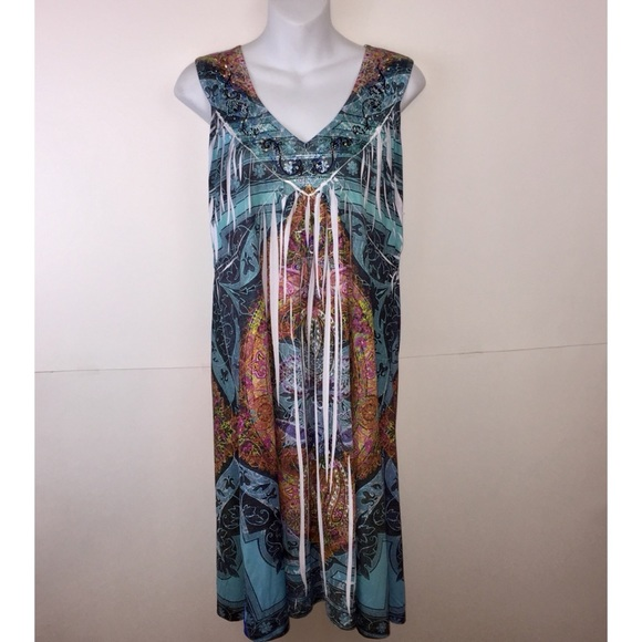 ONE WORLD Dresses & Skirts - XL One World Sleeveless Dress, Rhinestones
